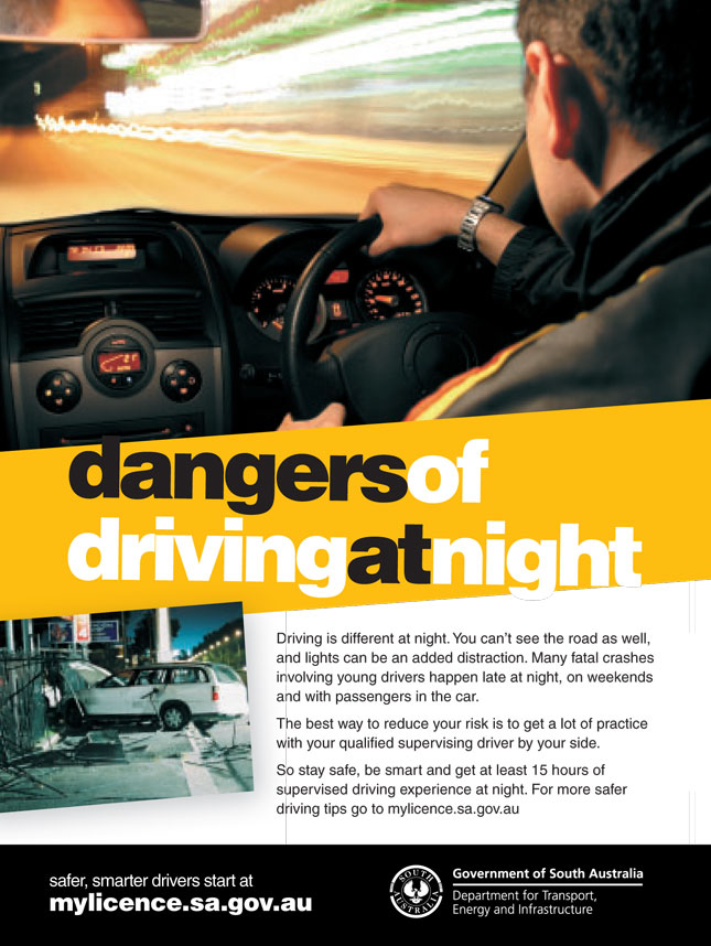 dangers of driving at night