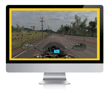 click here to practise the motorcycle hazard simulator