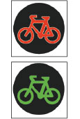 Bicycle crossing light