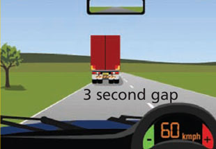 3 Second gap to truck