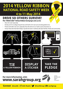 Yellow Ribbon week poster