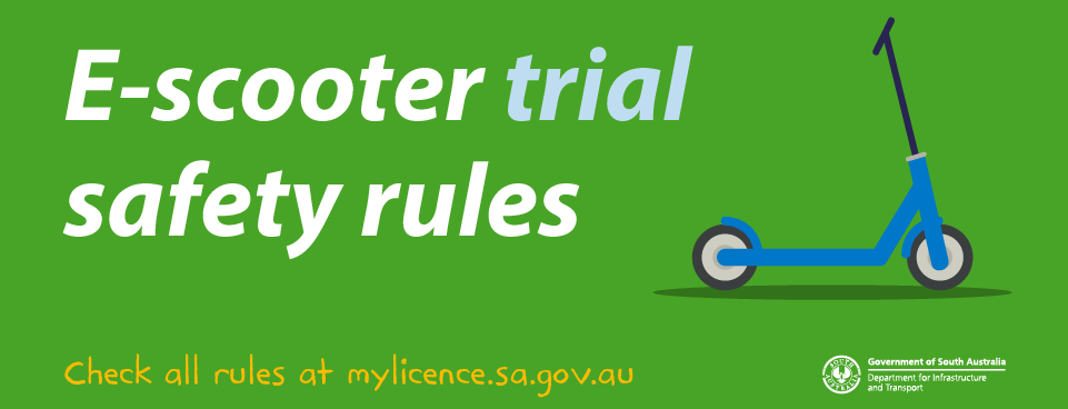 E-scooter trial safety rules