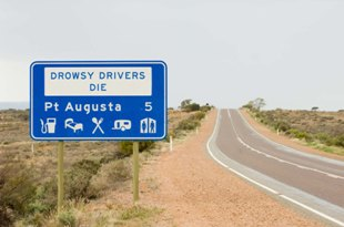 Drowsy drivers die sign